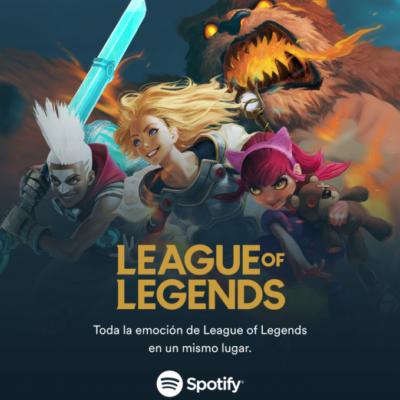 Spotify ofrecerá contenido exclusivo de League of Legends
