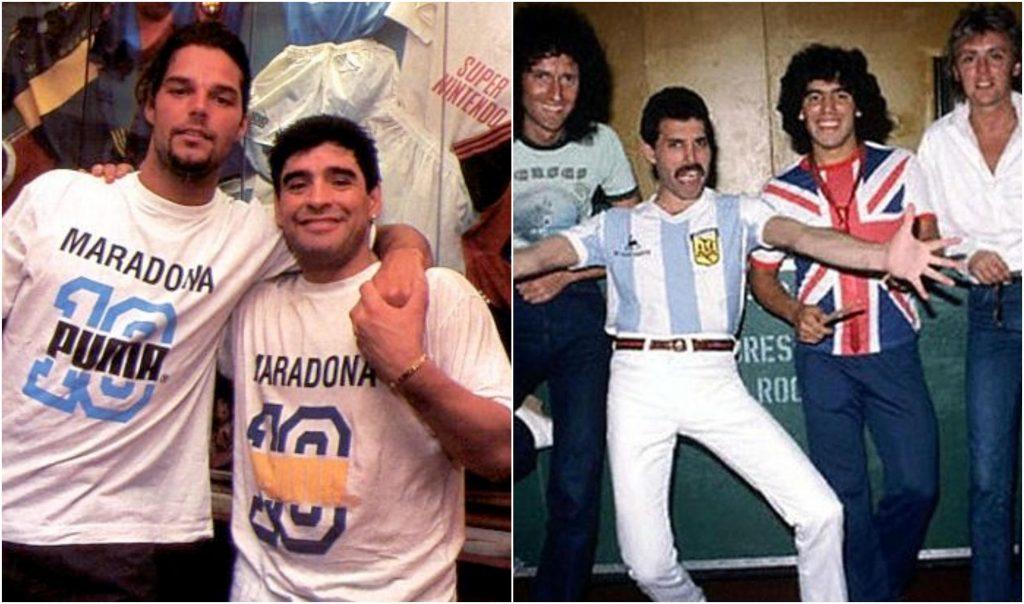 Maradona Ricky Martin y Queen