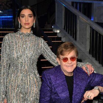 Dua Lipa y Elton John sorprendieron con un show en la previa de los Oscar