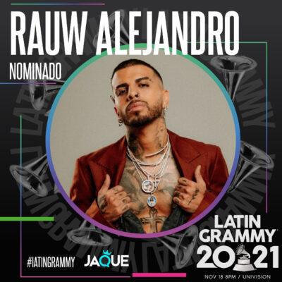 Rauw Alejandro recibe tres nominaciones al Latin Grammy 2021